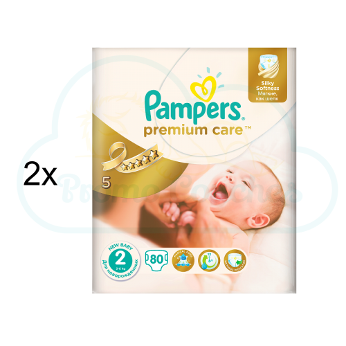 160 COUCHES PAMPERS PREMIUM CARE taille 2