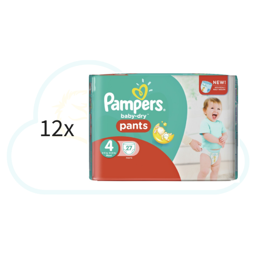 324 COUCHES-CULOTTES PAMPERS PANTS taille 4