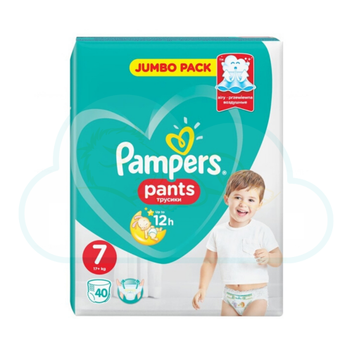 40 COUCHES-CULOTTES PAMPERS PANTS taille 7