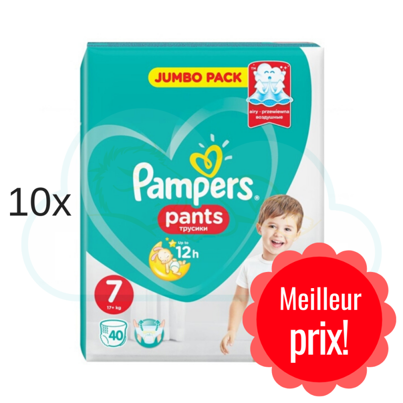 400 COUCHES-CULOTTES PAMPERS PANTS taille 7