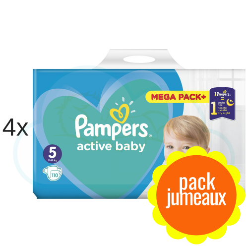440 COUCHES PAMPERS ACTIVE BABY  taille 5