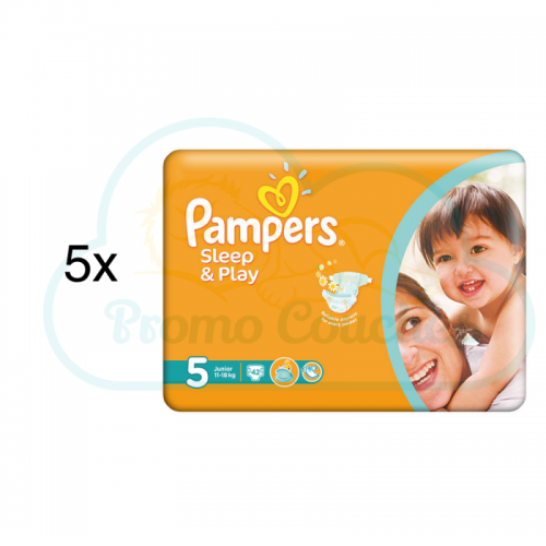 210 COUCHES PAMPERS SLEEP&PLAY (SIMPLY DRY) taille 5