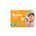 42 COUCHES PAMPERS SLEEP&PLAY (SIMPLY DRY) taille 5