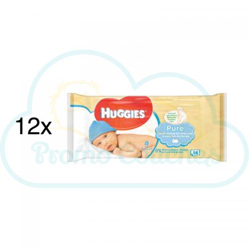 LINGETTES HUGGIES PURE 12x56