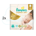176 COUCHES PAMPERS PREMIUM CARE taille 1