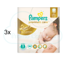 264 COUCHES PAMPERS PREMIUM CARE taille 1
