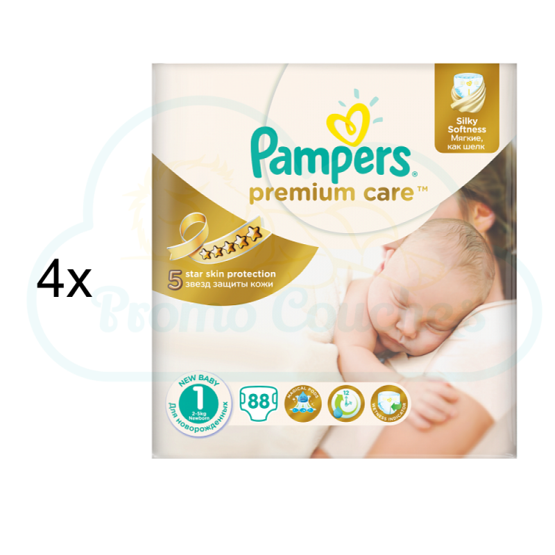 Couches moins ch res pampers premium care taille 1 promocouches - Couches pampers naissance ...