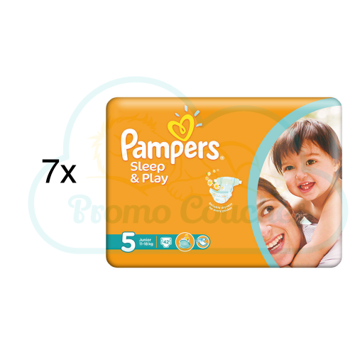 294 COUCHES PAMPERS SLEEP&PLAY (SIMPLY DRY) taille 5