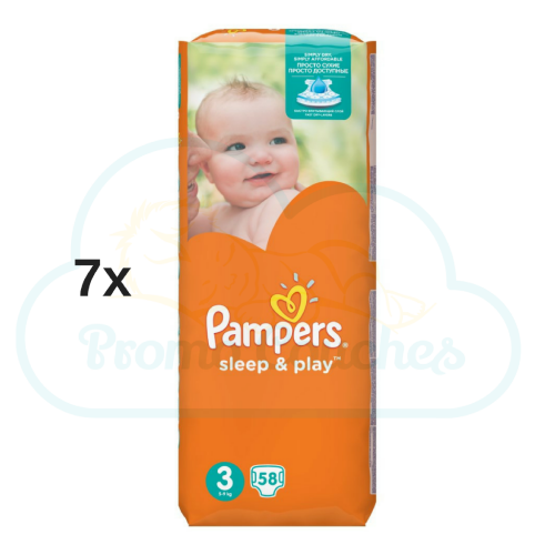 406 COUCHES PAMPERS SLEEP&PLAY (SIMPLY DRY) taille 3