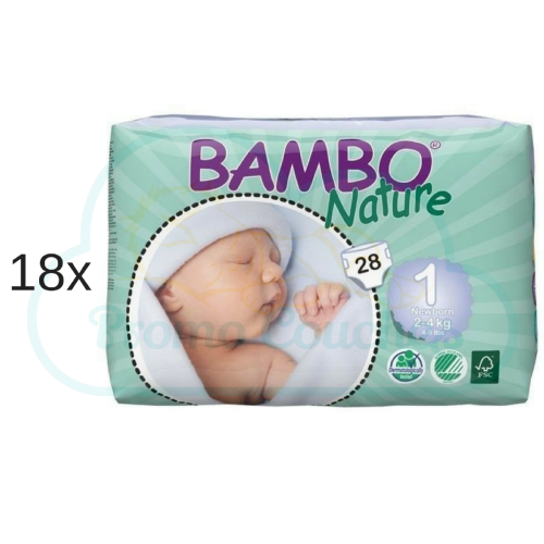 504 COUCHES BAMBO NATURE taille 1