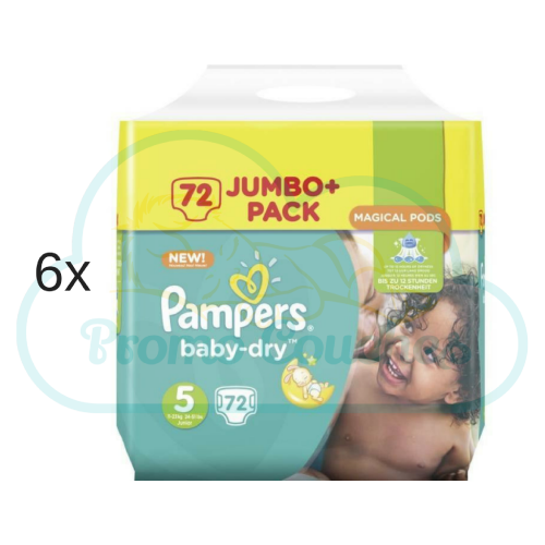 432 COUCHES PAMPERS BABY DRY taille 5