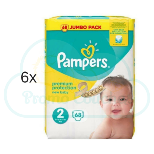 408 COUCHES PAMPERS NEW BABY taille 2