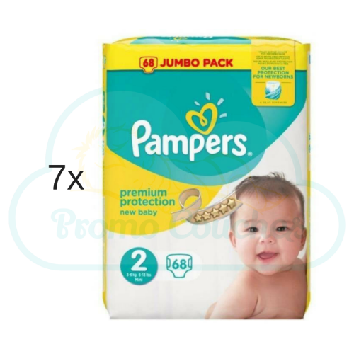 476 COUCHES PAMPERS NEW BABY taille 2