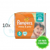 420 COUCHES PAMPERS SLEEP&PLAY (SIMPLY DRY) taille 5