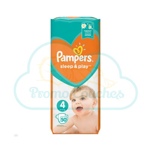 50 COUCHES PAMPERS SLEEP&PLAY (SIMPLY DRY) taille 4