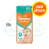 400 COUCHES PAMPERS SLEEP&PLAY (SIMPLY DRY) taille 4