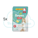 220 COUCHES-CULOTTES PAMPERS PANTS taille 6