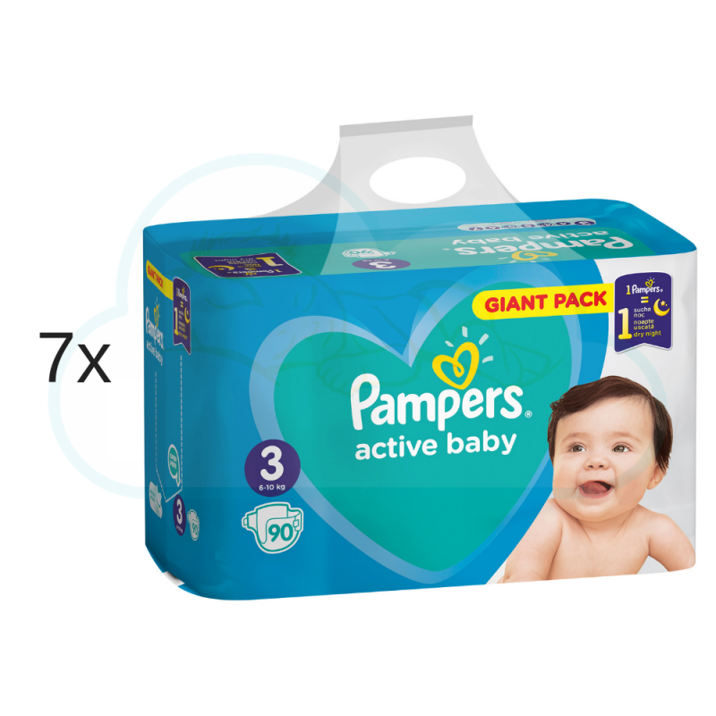 630 COUCHES PAMPERS ACTIVE BABY taille 3