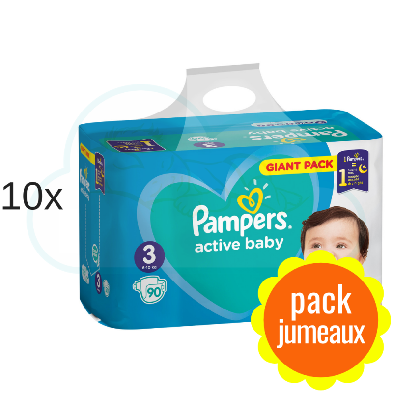 900 COUCHES PAMPERS ACTIVE BABY taille 3
