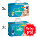 300 COUCHES taille 2 et 270 COUCHES taille 3 PAMPERS ACTIVE BABY