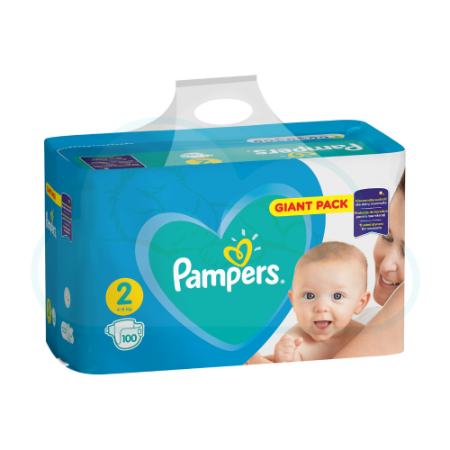 100 COUCHES PAMPERS NEW BABY  taille 2