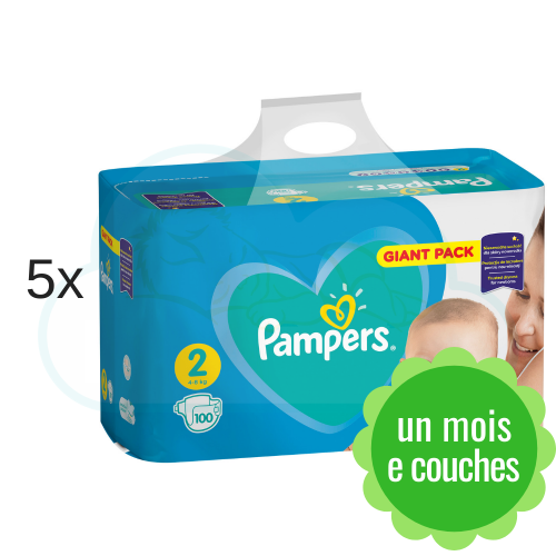 500 COUCHES PAMPERS NEW BABY  taille 2