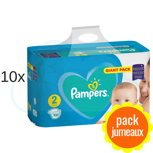 1000 COUCHES PAMPERS NEW BABY  taille 2