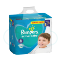 56 COUCHES PAMPERS ACTIVE BABY taille 6