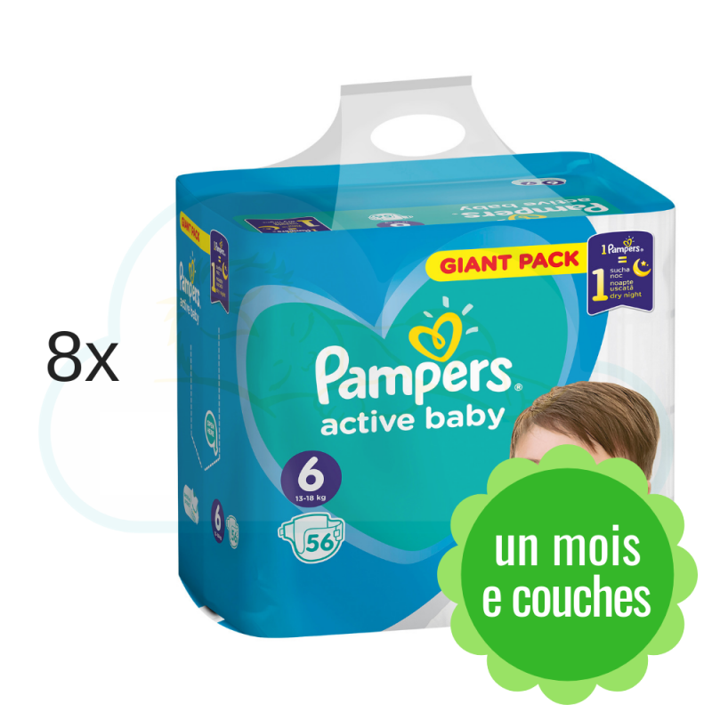448 COUCHES PAMPERS ACTIVE BABY taille 6