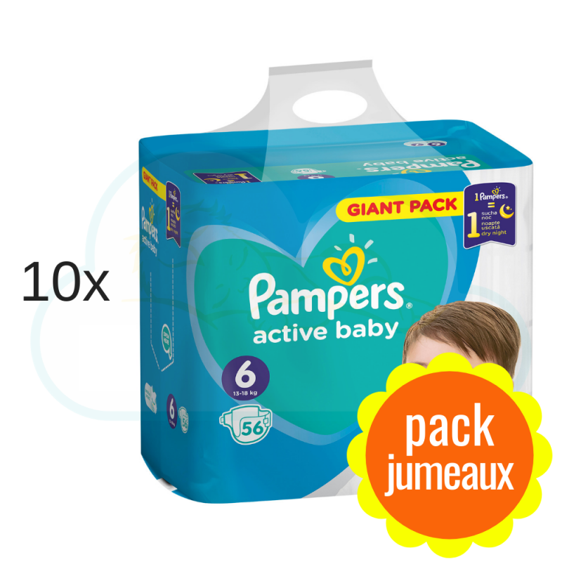 560 COUCHES PAMPERS ACTIVE BABY taille 6