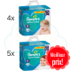 256 COUCHES taille 5 et 280 COUCHES taille 6 PAMPERS ACTIVE BABY