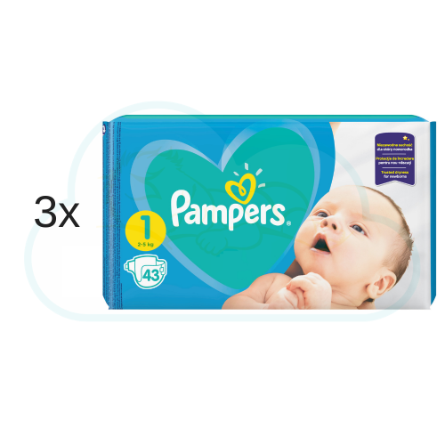129 couches PAMPERS NEW BABY taille 1