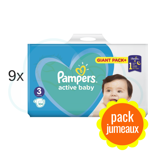 936 COUCHES PAMPERS ACTIVE BABY taille 3