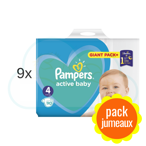 810 COUCHES PAMPERS ACTIVE BABY taille 4