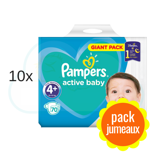 700 COUCHES PAMPERS ACTIVE BABY DRY taille 4+