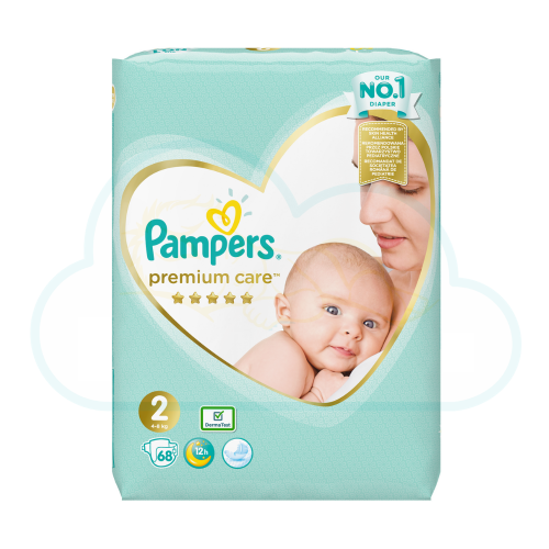 68 COUCHES PAMPERS PREMIUM CARE taille 2
