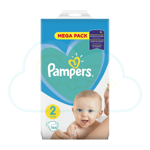 144 COUCHES PAMPERS NEW BABY  taille 2