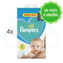 576 COUCHES PAMPERS NEW BABY  taille 2