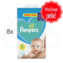 1152 COUCHES PAMPERS NEW BABY  taille 2