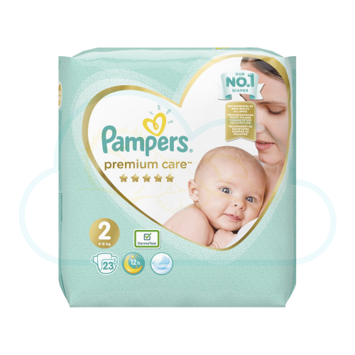 23 COUCHES PAMPERS PREMIUM CARE taille 2