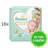 368 COUCHES PAMPERS PREMIUM CARE taille 2