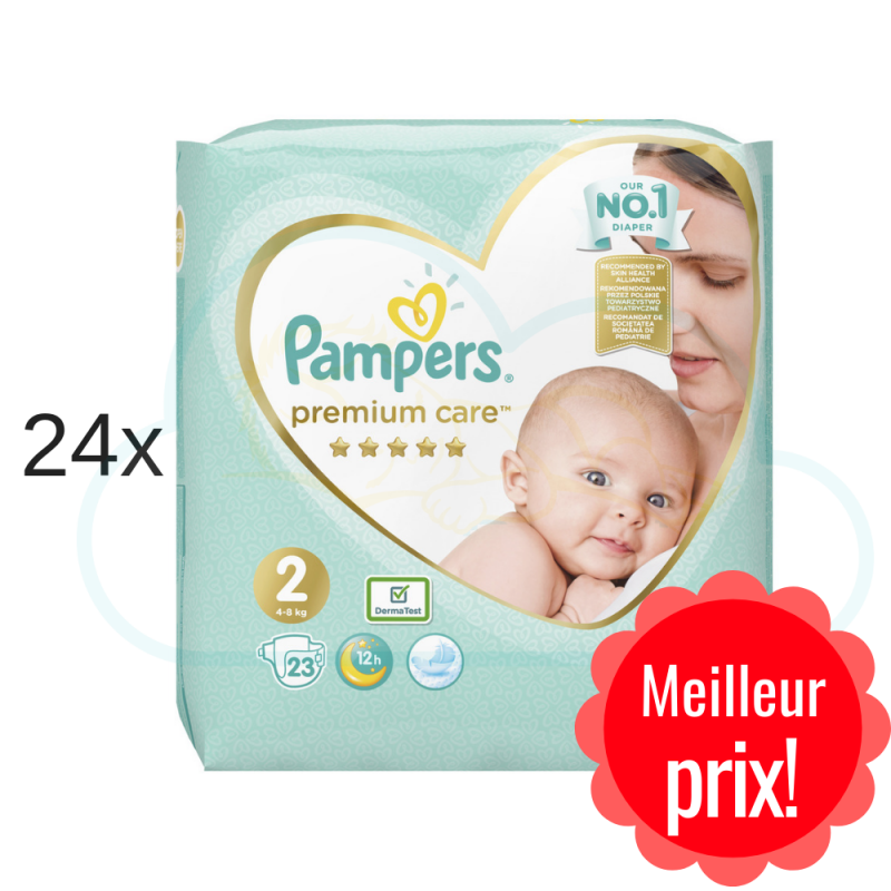 552 COUCHES PAMPERS PREMIUM CARE taille 2