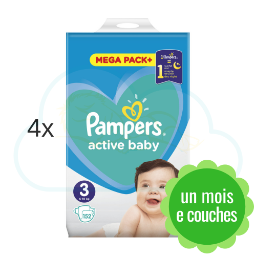 608 COUCHES PAMPERS ACTIVE BABY taille 3