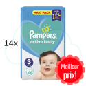 924 COUCHES PAMPERS ACTIVE BABY taille 3