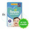528 COUCHES PAMPERS ACTIVE BABY taille 3