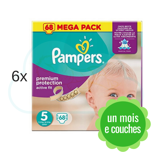 408 COUCHES PAMPERS ACTIVE FIT taille 5