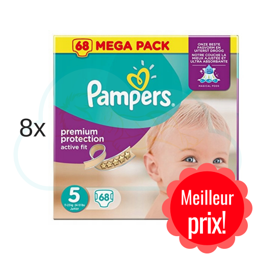 544 COUCHES PAMPERS ACTIVE FIT taille 5