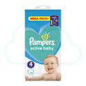 132 COUCHES PAMPERS ACTIVE BABY taille 4