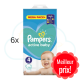 660 COUCHES PAMPERS ACTIVE BABY DRY taille 4