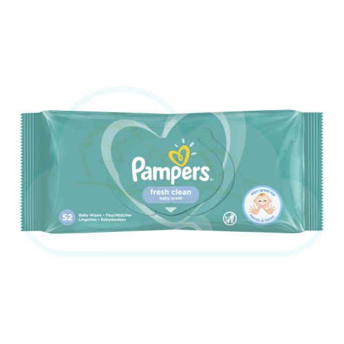 LINGETTES PAMPERS BABY FRESH CLEAN 52